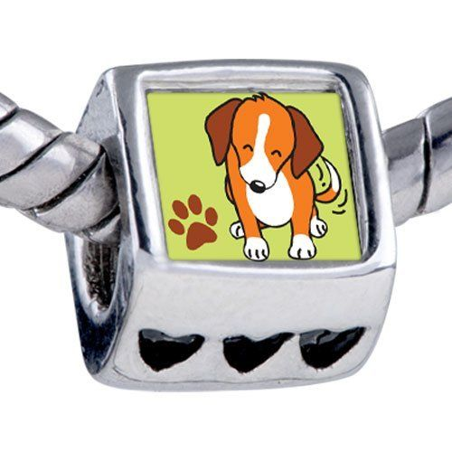 Pugster Silver Plated Photo Bead Beagle Dog Beads Fits Pandora Bracelet Pugster. $12.49. It's the photo on the heart charm. Hole size is approximately 4.8 to 5mm. Fit Pandora, Biagi, and Chamilia Charm Bead Bracelets. Unthreaded European story bracelet design. Bracelet sold separately