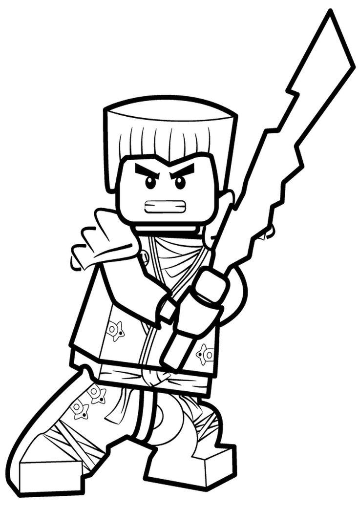 kolorowanka lego ninjago - malowanka dla chłopców nr 8