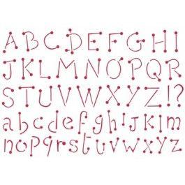 stencil alfabeto country