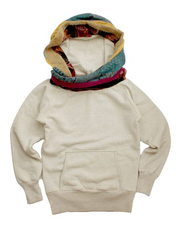 It's like a hoody and a scarf combined.....Love!