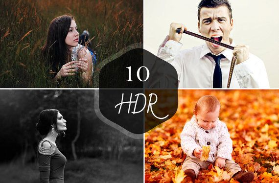Colorful Retro HDR Photoshop Actions  Super HDR by Symufa on Etsy, $2.00