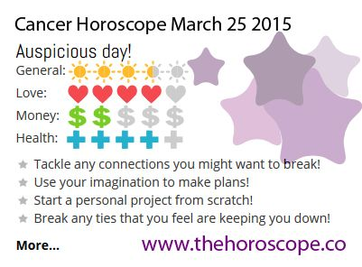 Auspicious day for #Cancer on March 25th 2015 #horoscope … http://www.thehoroscope.co/horoscope/Cancer-Horoscope-today-March-25-2015-2717.html