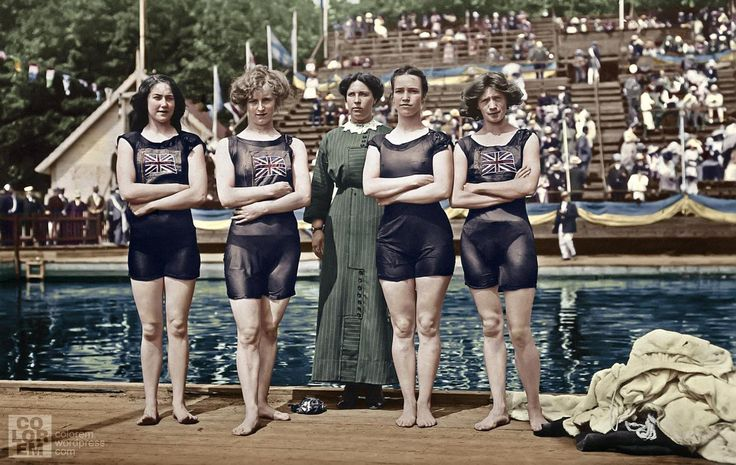 1912: Great Britain 4x100 swim team