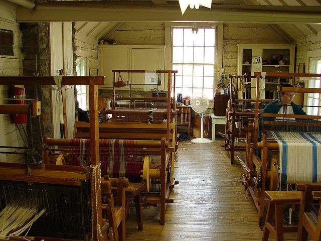 Weaving workshop (from Berea College, Berea, Kentucky)