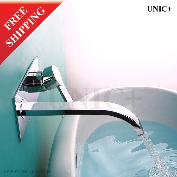 Faucet Bathroom Wall Mounted Bathtub Faucet Ceramic Vessel Chrome Vessel BWF002 #UNIC #Regular