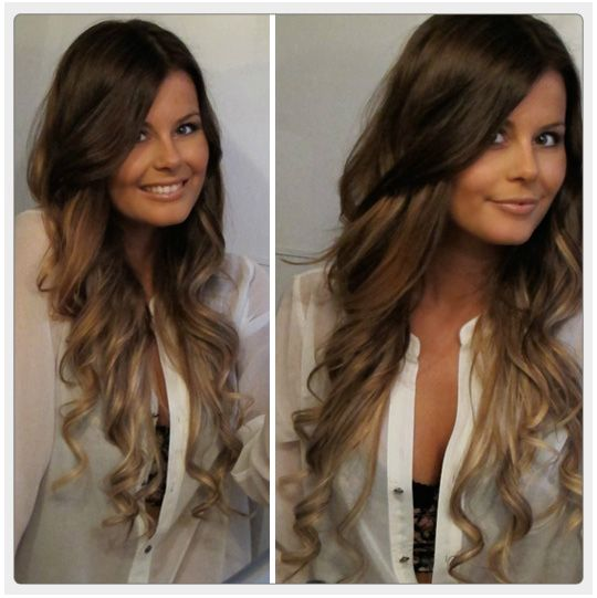 PERFECT ombre! Holy crap. When my hair grows out some more hopefully it'll look like this!