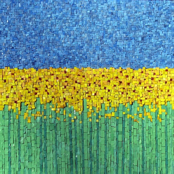 120 best mosaics landscape and natural scenery images on for Mosaic landscape design