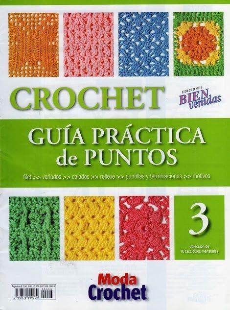 Revistas de manualidades Gratis: Revista de Crochet Gratis, Guía práctica de puntos 3