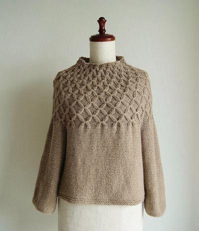 Smocking Sweater 『編むのが楽しい、ニット』サイチカさんより、スモッキングのセーター完成しました|『さくらカフェへようこそ』東京駒込のニットカフェのような編物教室
