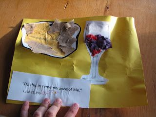 Torn paper Communion craft idea