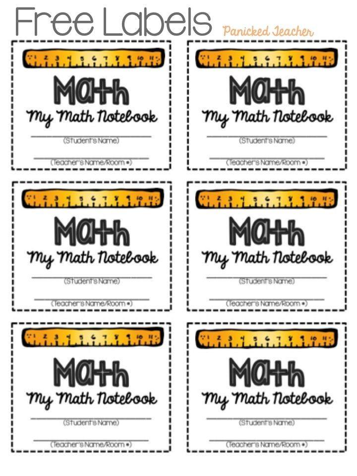 Panicked Teacher's Blog: Interactive Notebook Labels