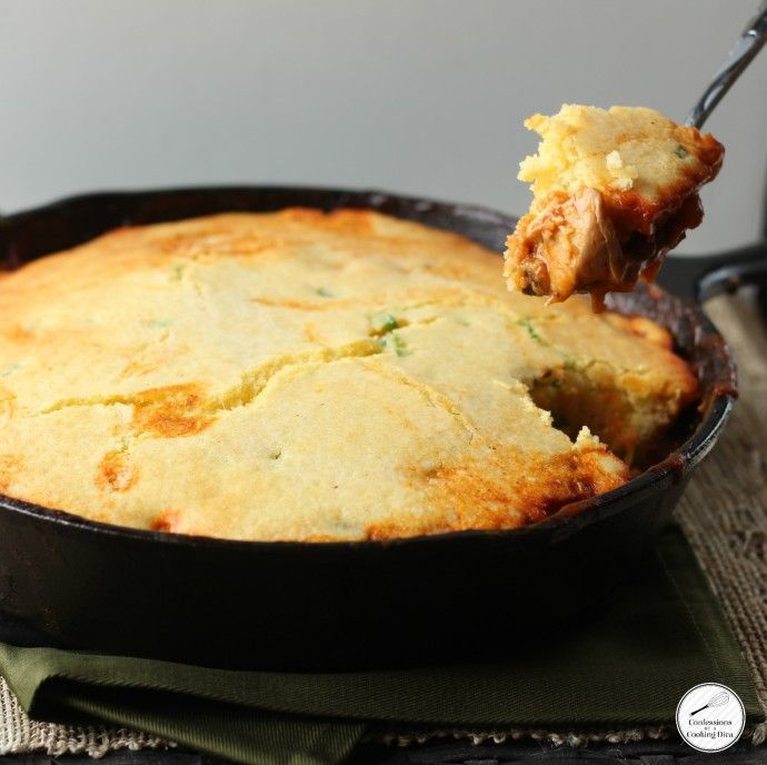 southwest chicken tamale pie with jalapeno cornbread