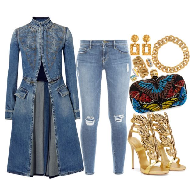 Denim & Gold by missfabulousity
