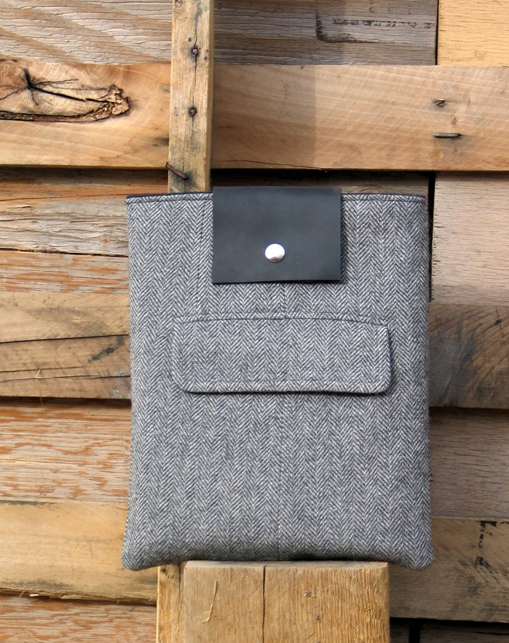 Recycled wool iPad sleeve from Zakken on Etsy