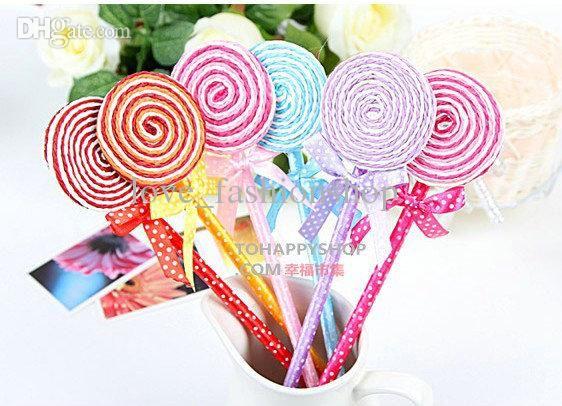 Wholesale Ball Point Pens - Buy Children's Cute Lollipop Pen Gift Pen Ball Point Pens Pencils Flower Pens Office Supplies Stationery, $0.32 | DHgate