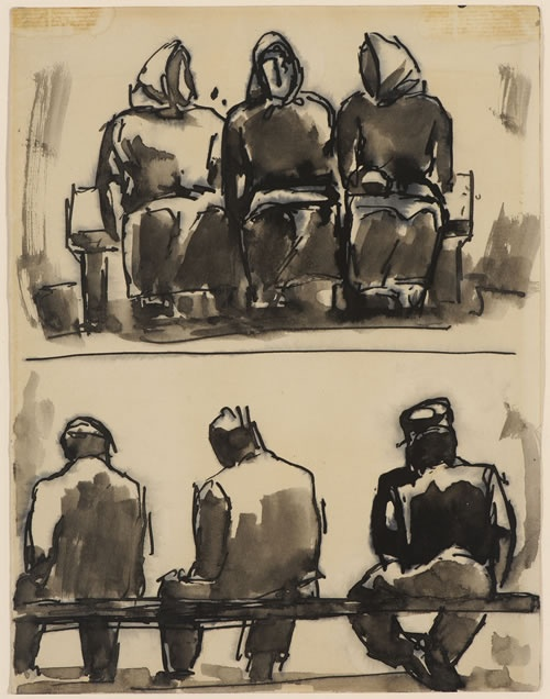 Figure Studies (Artist: Josef Herman)