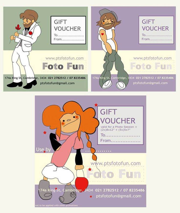 PT´s Foto fun voucher with MB characters