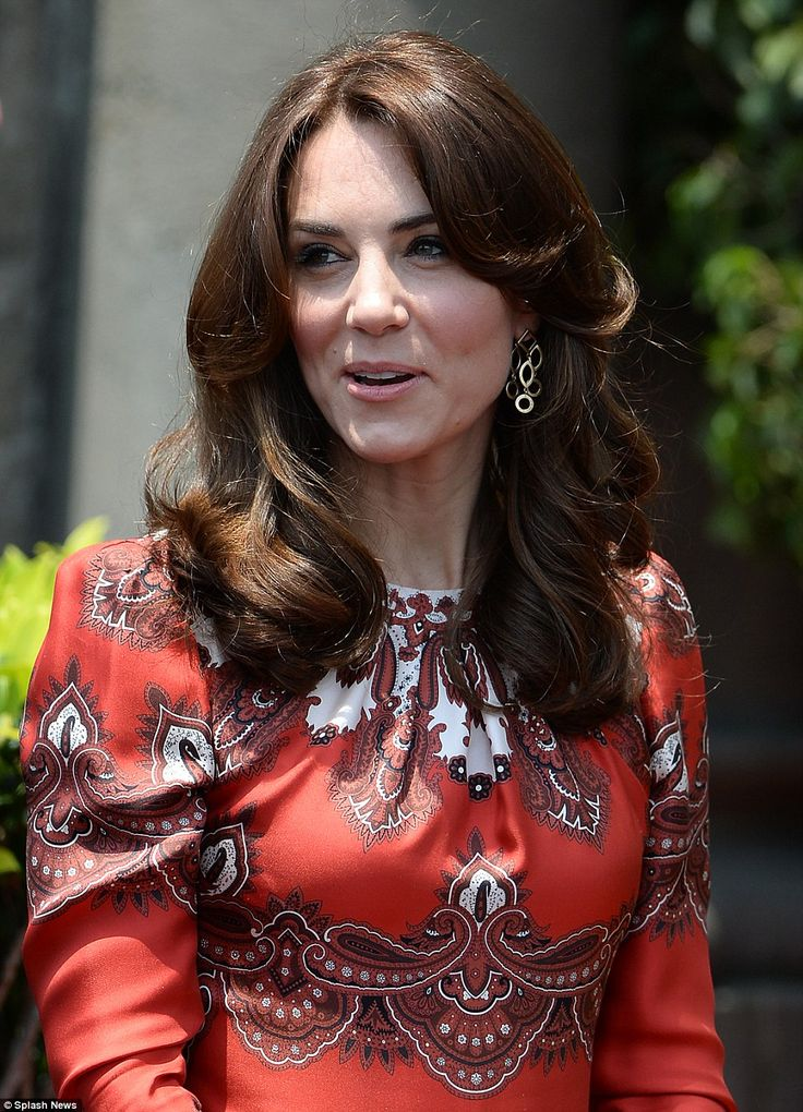 Plenty of thought: The Duchess blended Indian colour with British couture as she chose an ...