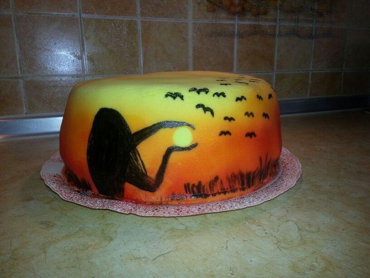 Torta naplementével