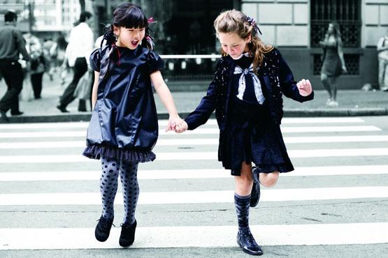 Moda para crianças meninas.