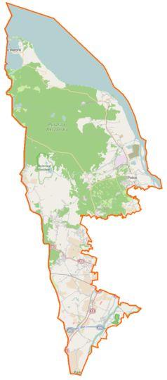 Mapa lokalizacyjna powiatu polickiego