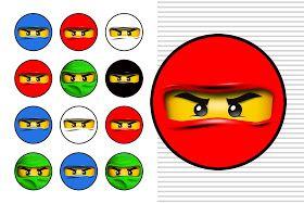 Ideas y material gratis para fiestas y celebraciones Oh My Fiesta!: Imprimibles para fiesta de Ninjago 2.