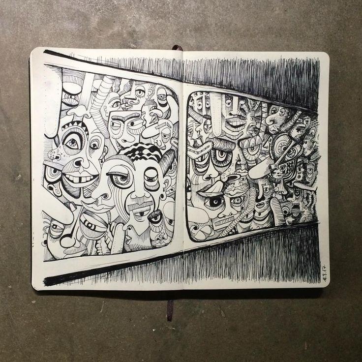 "Gefällt 99 Mal, 9 Kommentare - Janina Müller (@janinacarlottaeleonora) auf Instagram: ""Colombian buses #sketchbook #sketch #sketching #illustration #fineliner #drawing #draw #instasketch…"""