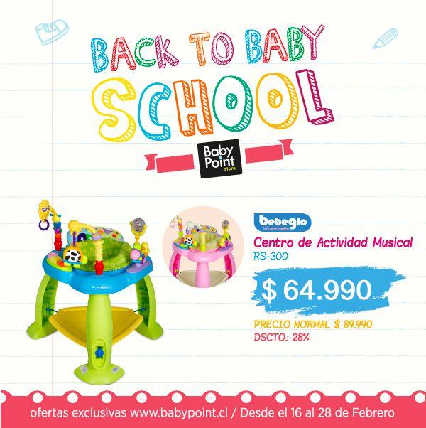#BackToBabySchool ¡Centro de actividad musical para asegurar la entretención y estimulación de tu bebé! ¡Y con 28% de descuento! ¡Aprovecha! Descuento sólo hasta mañana