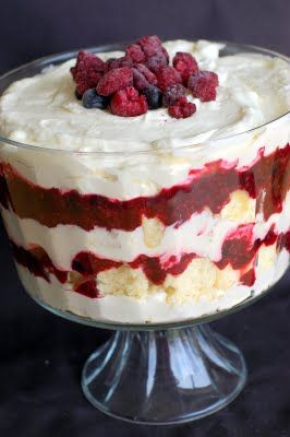 Lemon Berry Trifle- made this last year for mother's day- it a bit of work but it was very delicous. From barefoot and baking