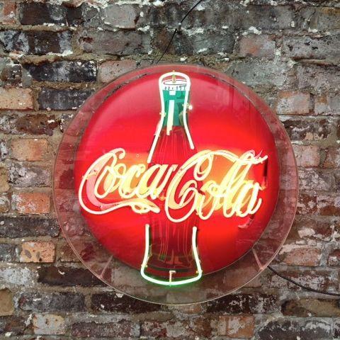 coca cola signs   FOR SALE : VINTAGE RETRO NEON COCA COLA SIGN