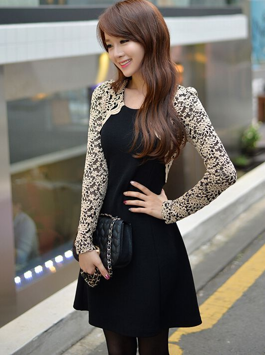 This is a high quality dress. It will be packaged well and sent to you safe and fast.Materials: Lace and Cotton blendDetailed Measurements:Size (cm)Length: 80cm Bust :86cm Shoulder: 35cm Sleeve:58cm