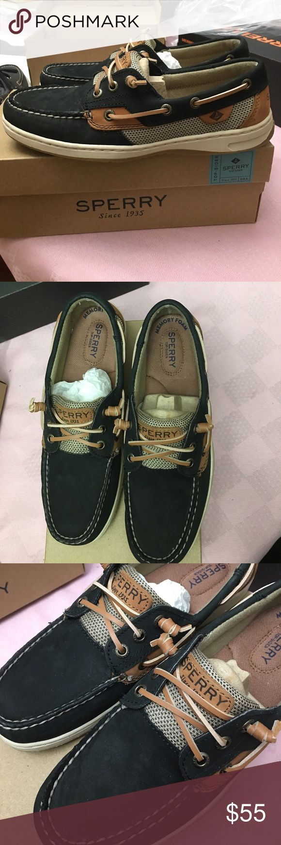 Womens sperry top sider shoes This is brand new with box . This shoes is memory foam and is very comfy. Sperry Top-Sider Shoes Flats & Loafers