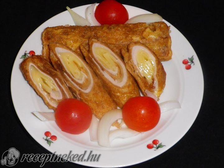 Sajttal, sonkával töltött bundás kenyér rolád recept | Receptneked.hu ( Korábban olcso-receptek.hu)