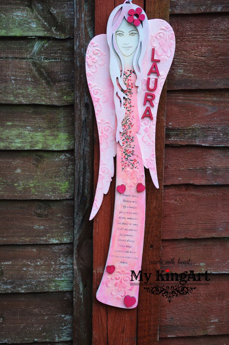 50cm hand painted angel with prayer