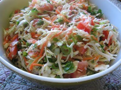 Colorful Mexican Coleslaw-to top pork carnitas sandwiches. (Instead of bbq pulled pork sandwiches with traditional coleslaw)