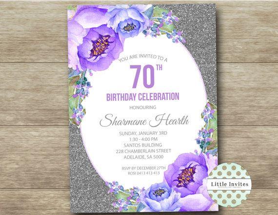 70 º cumpleaños señora invitación cumpleaños por LittleInvites