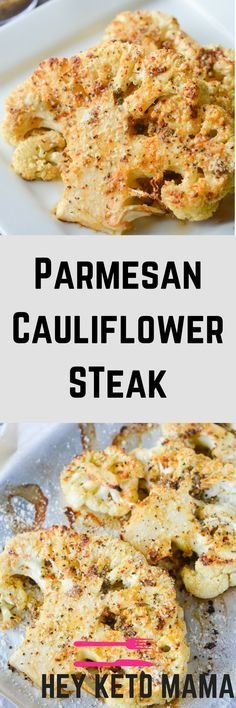 This Parmesan Cauliflower Steak is an amazing vegetarian meal to satisfy your taste buds and make your tummy smile! | heyketomama.com