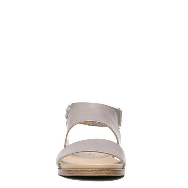 Naturalizer Women's Kimono Medium/Wide Sandals (Light Grey Smooth)