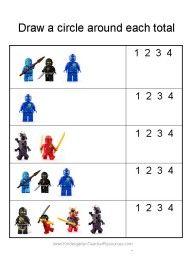 Ninjago Number Worksheets