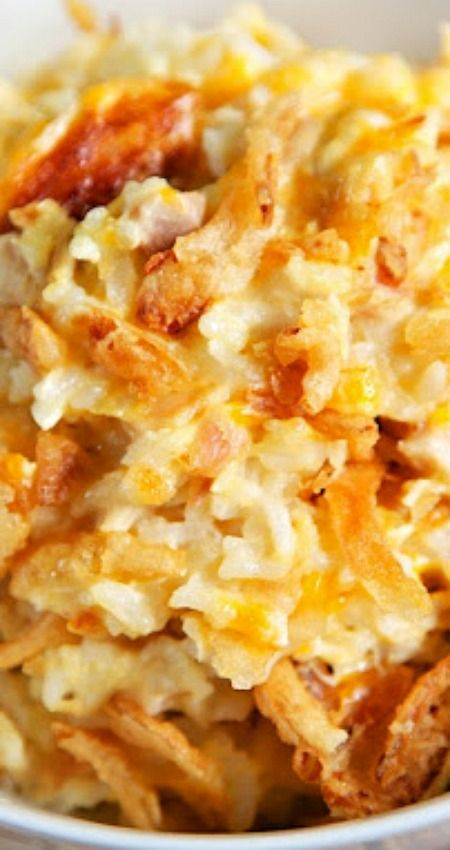 French Onion Chicken and Rice Bake ~ A delicious casserole