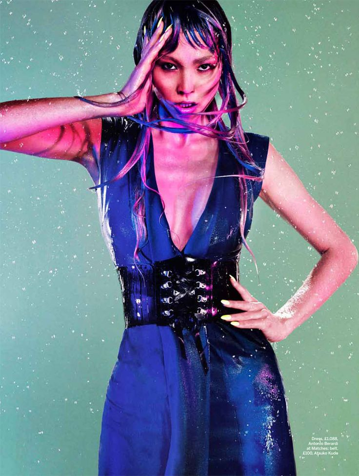 Purple Rain – The autumn-winter edition of Stylist Magazine lets the rain fall for a high impact story featuring this season's trend of purple hues, photographed by John-Paul Pietrus. Model Polina gets wet and wild in the autumn designs of Antonio Berardi, Christopher Kane, Prada, Cavalli and Chanel amongst others chosen by stylist Alexandra Fullerton. Polina's looks are complemented by lavender-dipped tresses courtesy of hair stylist Claire Rothstein. / Makeup by Adam de Cruz: Women Fashion, Fashion Photo, Purple Rain, Stylists Magazines, John Paul Pietrus, Fashion Editorial, Alexandra Fullerton, Magazines Aw, Aw 2012