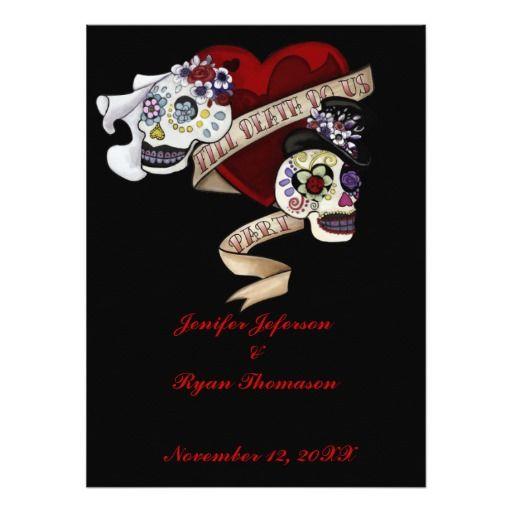 82 best customized unusual invitations images on pinterest halloween wedding invitation stopboris Choice Image