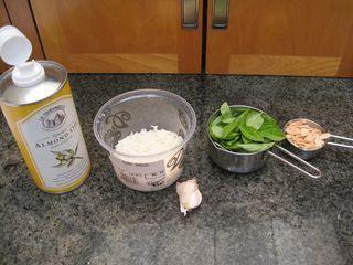 Easy basil-almond pesto