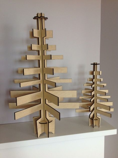 Traditional Christmas Tree - small and middle-sized in FSC approved ply