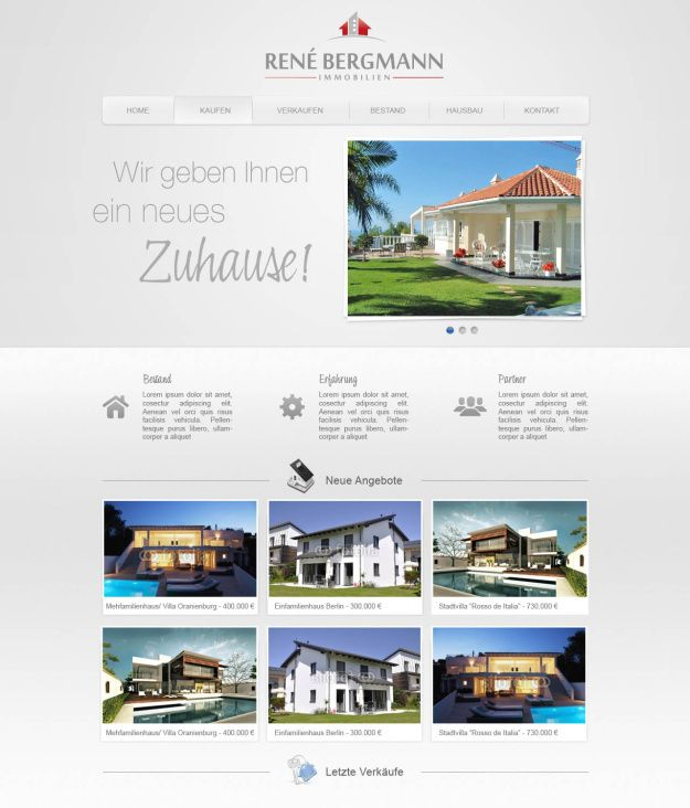 Webdesign Immobilienmakler