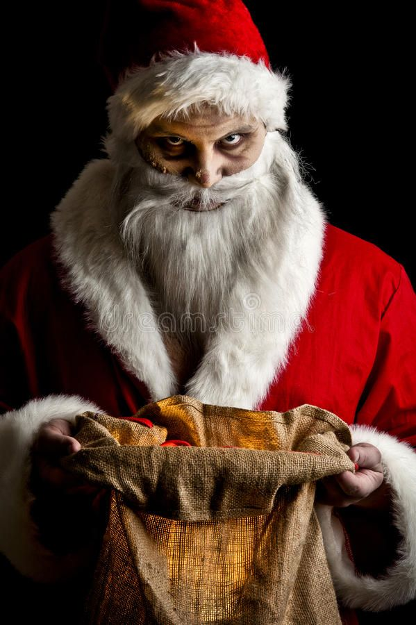 Scary Santa Portrait Of A Scary Looking Santa Claus Ad Santa Scary Portrait Claus Scary Ad Scary Christmas Creepy Christmas Scary Holiday