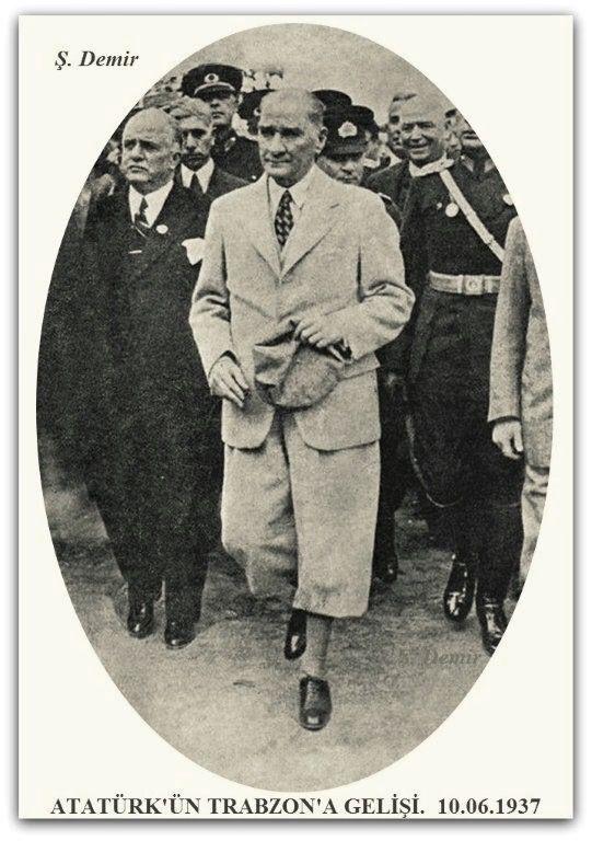 Atatürk'ün Trabzon'a gelişi. 10.06.1937