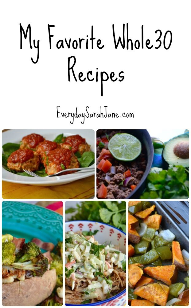 A collection of my favorite go-to #Whole30 recipes!