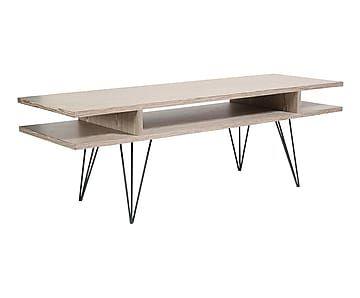 Table basse, noir et naturel - L120