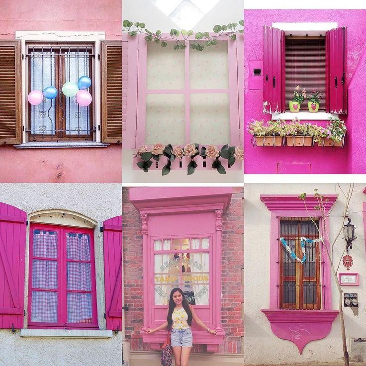 Pink Windows by:  R1C1: @fabala R1C2: @vanessmou R2C1: @ranti_mayasari R2C2: @shimplicity R3C1: @letitialulu R3C2: @avlis4  Congratulations!  Tag #windowsanddoorsoftheworld to be featured!